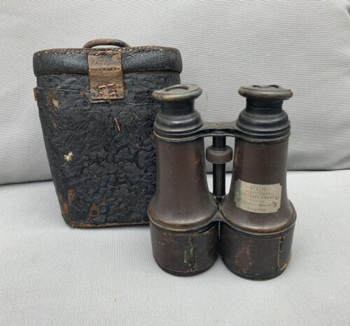 Military Binoculars 1887 Named Private Mount Victoria Cross British Australian? 1914 - 1918 (WWI) - 13962