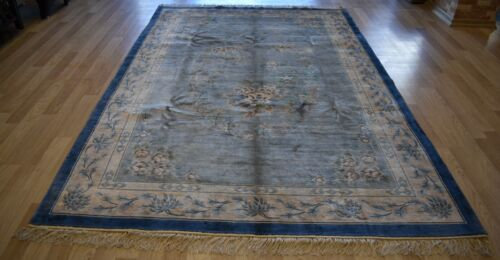CLEARANCE Gorgeous Art-Deco Chinese  Antique 100% Pure Silk (Tested) 7 Ft x 10Ft