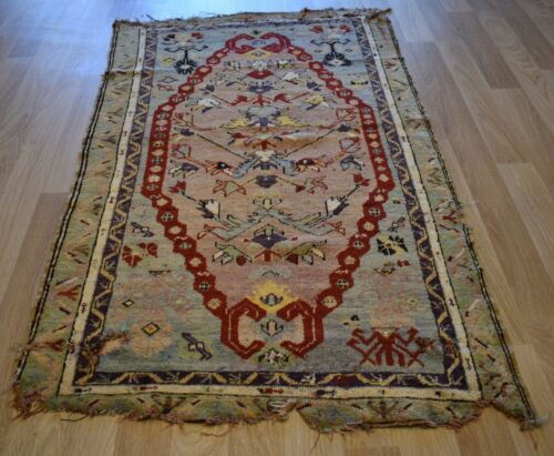 CLEARANCE 1850's Exceptional Masterpiece Museum Quality Mudjur Anatolian Rug 3x6
