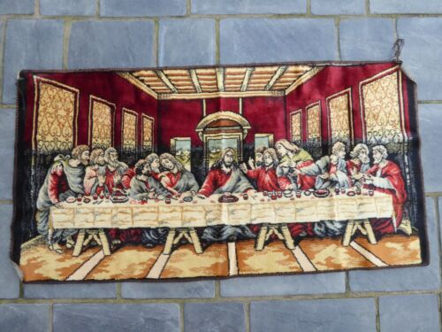 """The Last Supper Jesus Tapestry Wall Hanging Rug 20"""" x 39"""""""