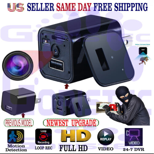 Surveillance Spy Camera Security Hidden Motion Detection DVR  HD1080P Charger <br/> $26 NEW UPGRADE