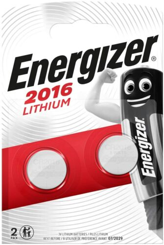 2x Energizer CR2016 3V Lithium Coin Cell Battery 2016 Button Batteries. 061