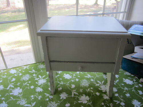 Antique shabby bench/stool/plant stand from shoe shine box. Refurbished.