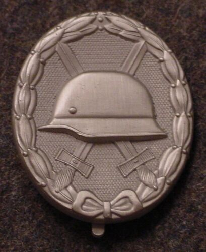 GERMAN WWII WEHRMACHT / ELITE WOUND BADGE - SILVER - 1957 PATTERN - OHNE HKReproductions - 156443