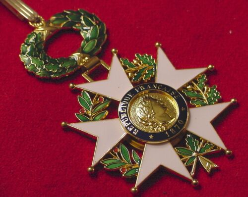 FRENCH LEGION OF HONOR  NATIONAL ORDER MEDAL - COMMANDER - GEN. GEORGE S. PATTONReenactment & Reproductions - 156380
