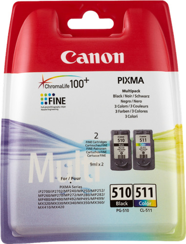 Originale Canon Multipack nero / differenti colori PG-510 + CL-511 2970B010