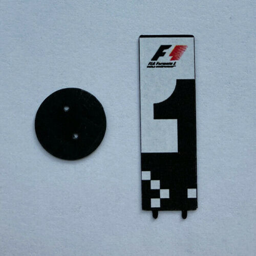 1/43 3D printed F1 GP parc ferme board 2012 to 2017