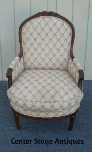 61882 French Chair HEIRLOOM FURNITURE  Bergere Armchair w/ Goose Down Seat