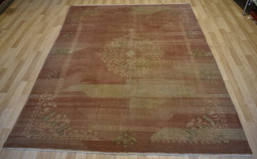 Clearance Sale Antique Genuine Exceptional Turkish Oushak Rug  8 Ftx 11 Ft