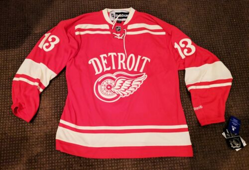 New NWT Reebok Pavel Datsyuk Red Wings Winter NHL Hockey Jersey Red Alternate L