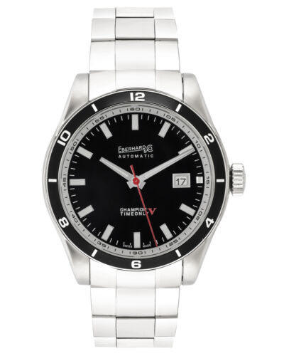 EBERHARD CHAMPION V TIME ONLY AUTOMATIC MEN'S WATCH 41031.2S, MSRP: $3,350 <br/> ShopWorn® - Gently Handled, Never Owned