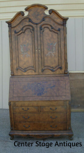 56525   Large 2 piece Secretary Desk with Bookcase Top with GREAT interior ?