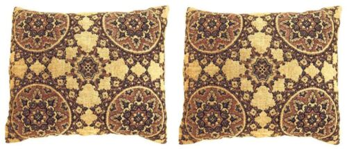 Pair of Vintage Decorative Tapestry Pillows with Circles Design W FREE SHIPPING!