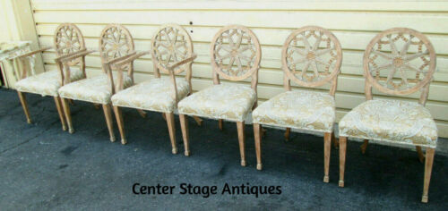 58312 Set of 6 QUALITY Custom Made  Dining Chairs w Original  factory Finish