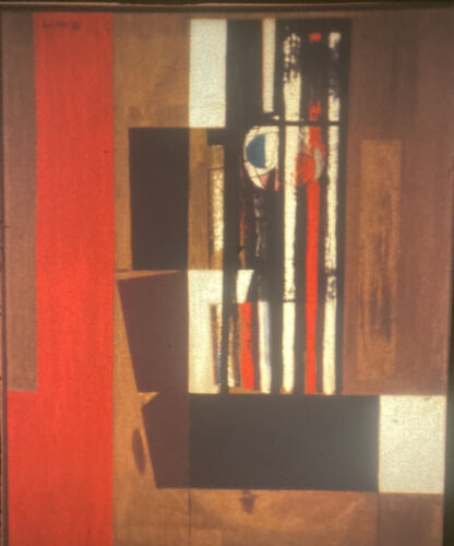 """Robert Motherwell """"Spanish Prison"""" Abstract Expressionism 35mm Slide"""