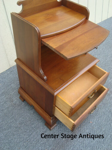 61981  Solid Cherry Pennsylvania House Nightstand End Table Stand