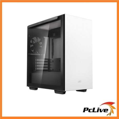 Deepcool Macube 110 White Tempered Glass Mini Micro-ATX Tower Case Quiet Gaming