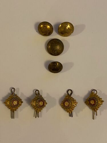 WWI Metal Shoulder Rank Pips & Buttons1914 - 1918 (WWI) - 13962