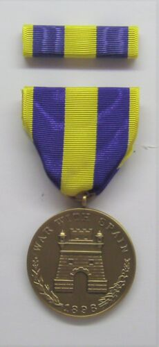 1898 U.S. Army Spanish War Campaign Medal with RIBBON