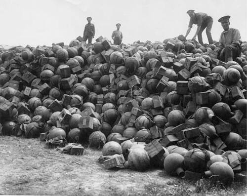 Men Of Royal Army Ordnance Corps On Dump Trench Mortars 1916 WWI OLD PHOTO