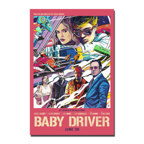 Baby Driver 2017 Movie Silk Poster Art Prints Picture 12x18 24x36 inches