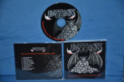 """Massacre 'Europe And Beyond """"Live In Germany 1991"""" RARE OOP. Death"""