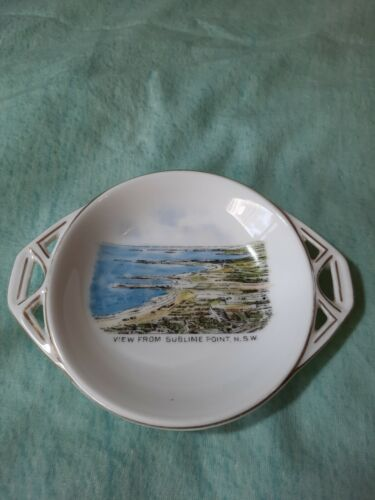 lovely condition vintage VICTORIA souvenir dish VIEW FROM SUBLIME POINT NSW