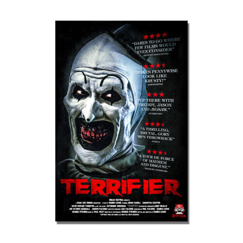 Terrifier Horror Movie Poster Painting Wall Art Decoration Print 24x36 inch