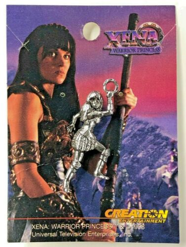 XENA Warrior Princess Figural Lapel Pin / Brooch - Lucy Lawless & Renee O'Connor