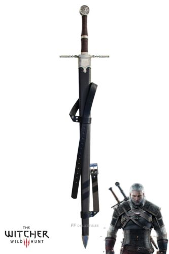 THE WITCHER - GERALT OF RIVIA'S SUPERIOR WOLVEN STEEL SWORD (w FREE sword stand)