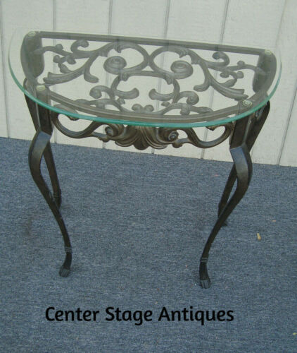 62008   Glass Top + Iron Lamp Table Stand
