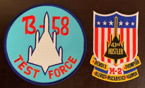 2x Beautiful/Large Convair B-58 Hustler 43rd Wing &Test Patches SAC Bomber USAF Air Force - 48823