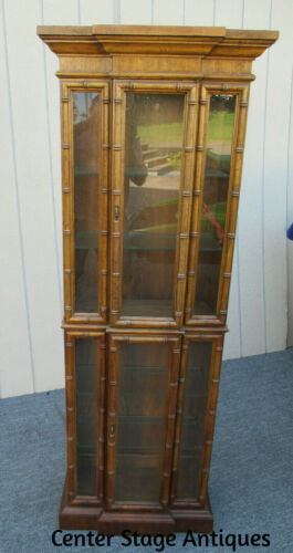 62293  Bamboo Style Lighted Curio China cabinet American Furniture