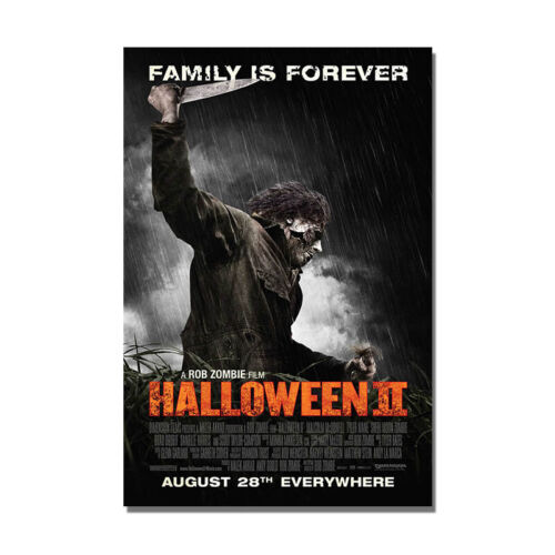 HALLOWEEN II Movie Poster Horror Film Wall Prints Painting Home Room Decoration