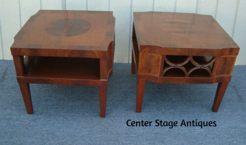 62110  Pair Antique Mahogany Lamp Table Stand