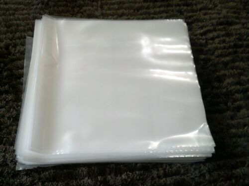 """50 LARGER PREMIUM THICK LP / 12"""" PLASTIC OUTER RECORD COVER SLEEVES FOR 2LP 3LP"""