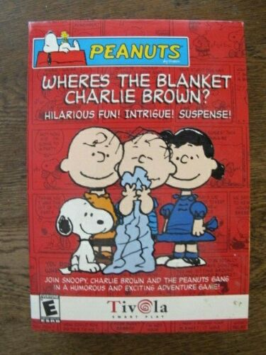 Where's the Blanket Charlie Brown? - Vintage 2002 Peanuts Tivola CD-ROM PC Game