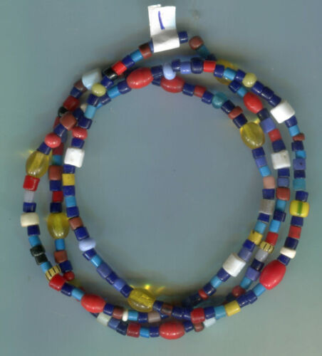African Trade beads Vintage Bohemian Czech glass old mixed color beads