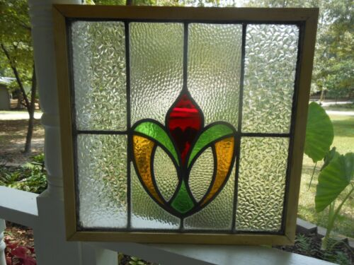 K-8-285 Reframed Leaded Stain Glass Window F/England 18 3/8 X 17 3/4 3 Available