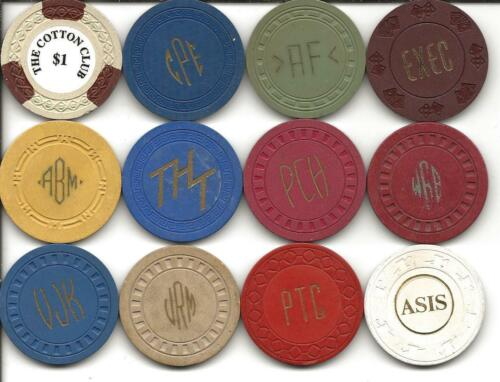 Group Of 12 Different Casino Chips From ILLEGAL-CALIFORNIA or UNKNOWN Spots-#3