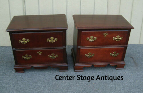 62000 Pair Mahogany Nightstand End Table Stands