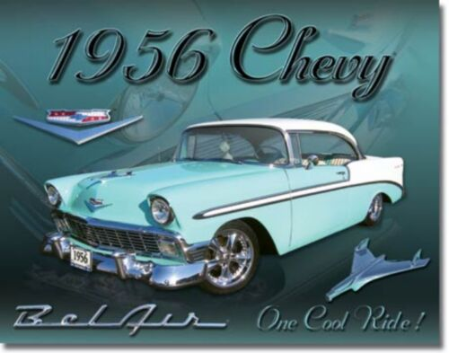 Chevy 1956 BelAir Chevrolet Metal Sign Tin New Vintage Style USA #1607