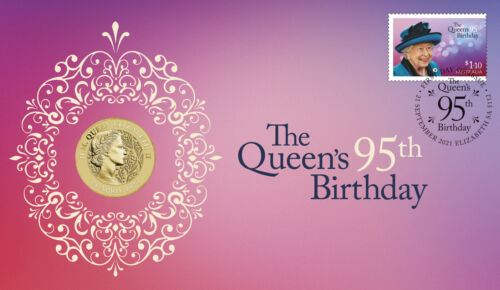 2021 H.M. Queen Elizabeth II 95th Birthday Perth Mint Stamp & Coin Cover PNC