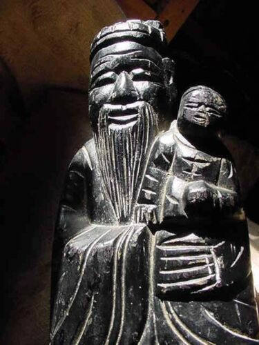 TELL ME YOUR TROUBLES,OLD wood statue Fuxing,Fu God of Wealth,magic statuary,EMP