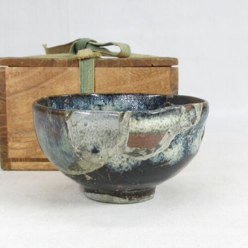 E0047: Really old Japanese SETO pottery tea bowl over 300 years or more ago