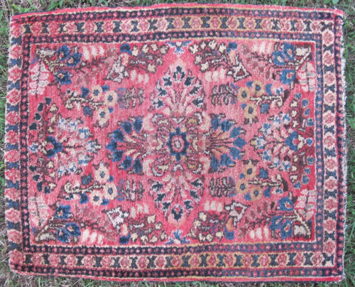 """Tribal Hand Knotted Middle Eastern Sarouk Rug 24"""" x 28"""" #9 yqz"""