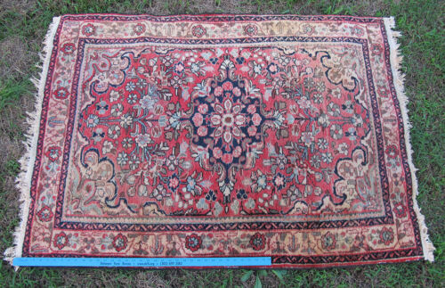 """Tribal Hand Knotted Middle Eastern Oriental Rug 60"""" x 42"""" #12 yqz"""