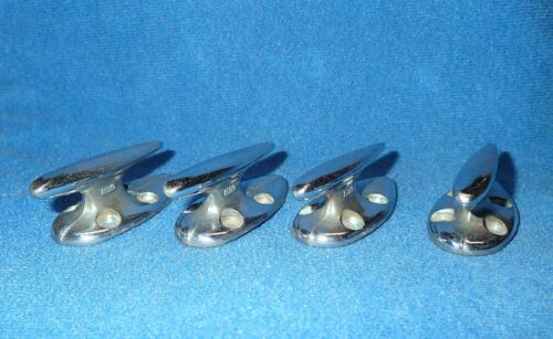 Four matching Vintage PERKO Marine 2 Inch Tie Down Cleats