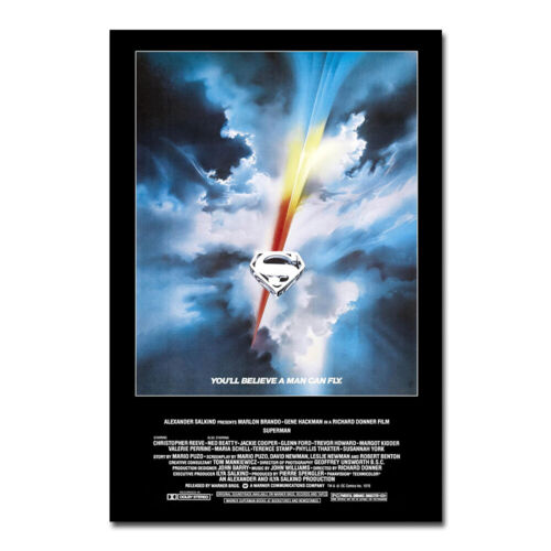 Superman 1978 Wall Movie Poster Classic Film Print Picture Bedroom Decoration