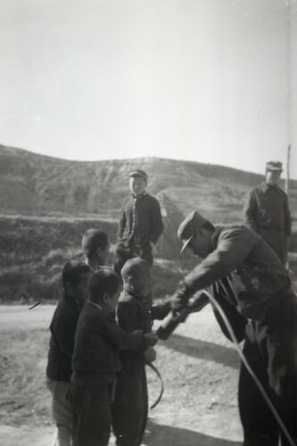 # 8 OLD HISTORICAL PHOTO NEGATIVE KOREA PEOPLE TOWN SOLDIERS VACCINATIONS1950'S